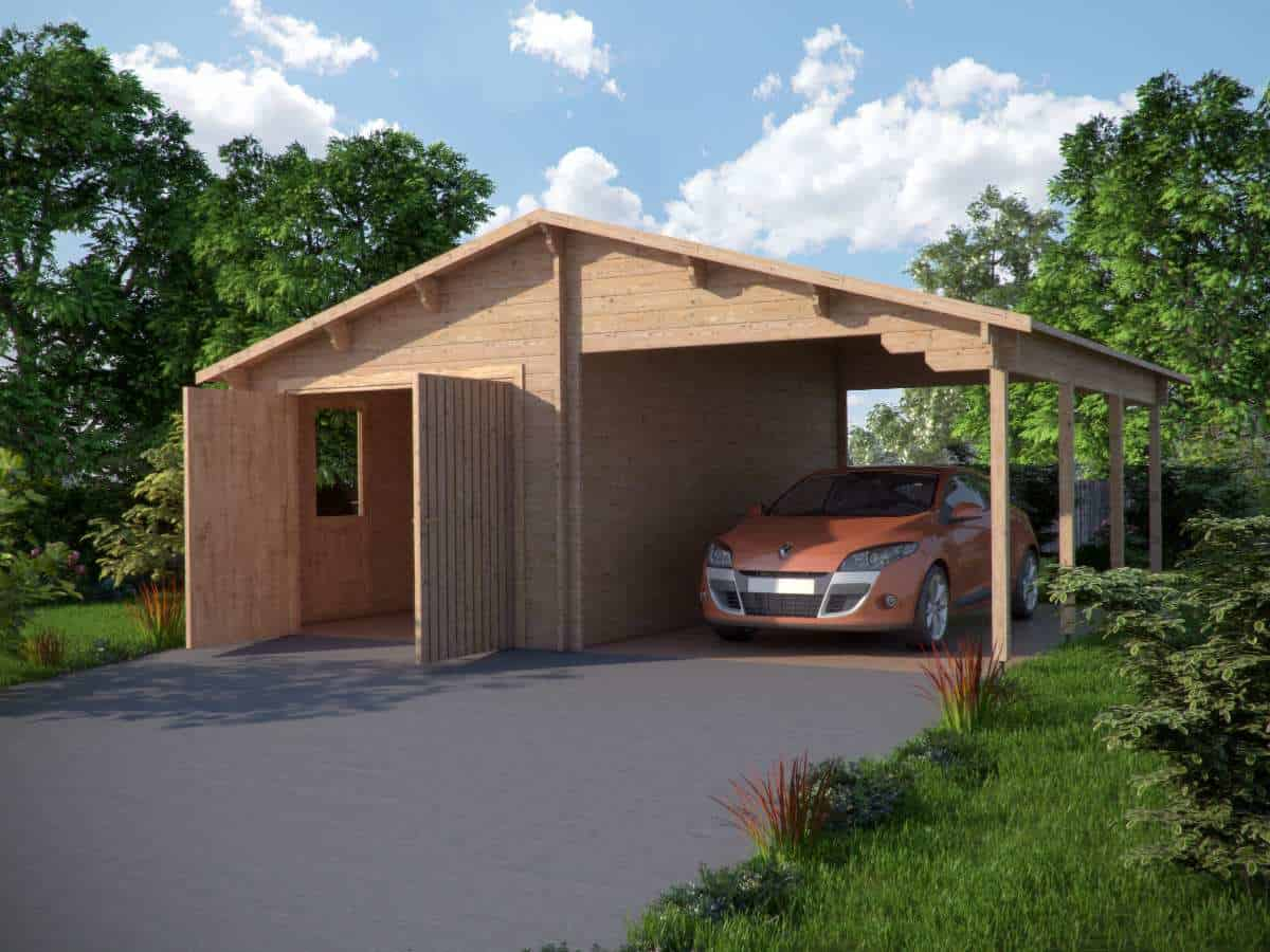 Garage +carport 6,8x5,6
