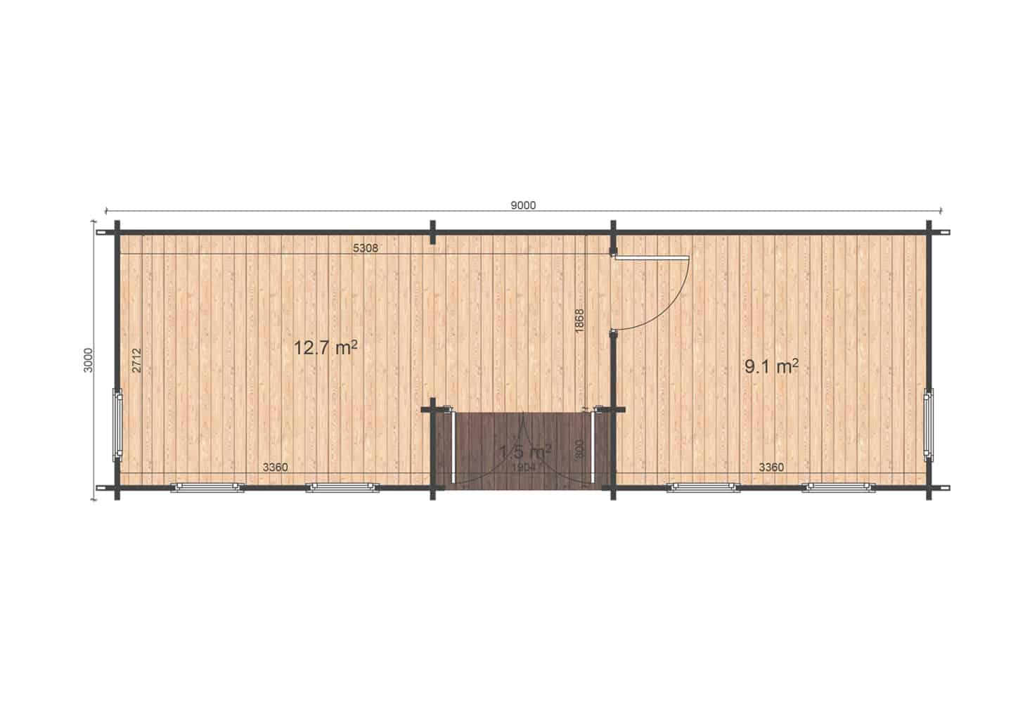 Holiday 3x9 floor plan