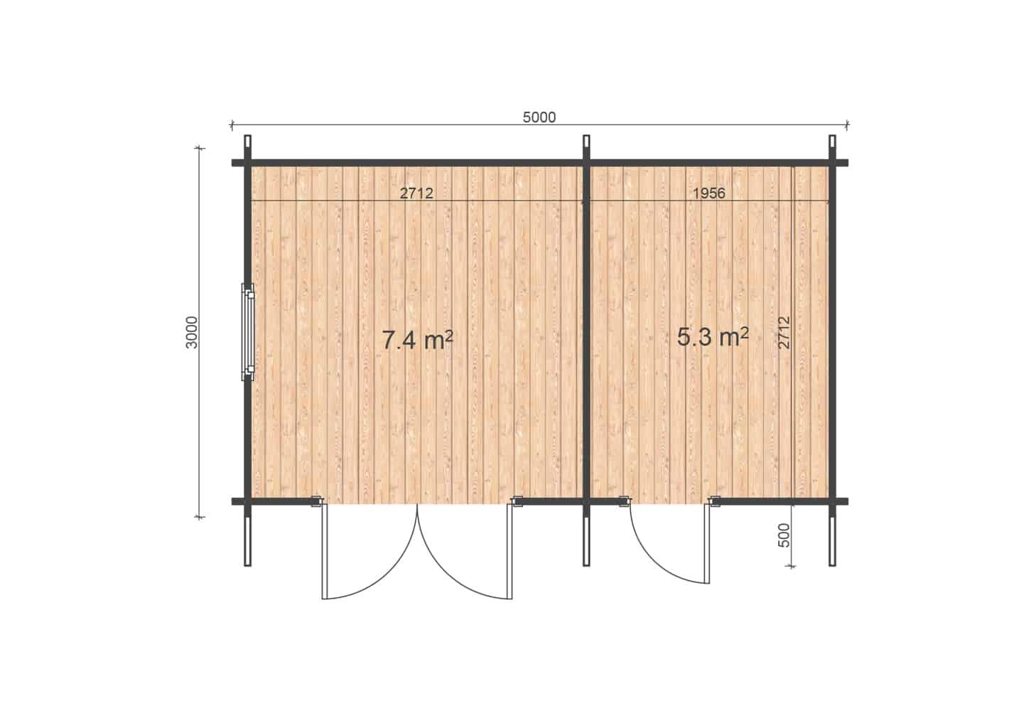 Vaucluse 5x3 floor plan