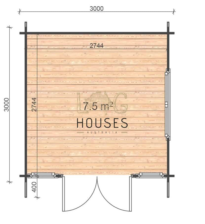 Volfa A 3x3 floor plan